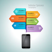 Mobile Option Infographic — Stockvektor