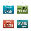 Retro Business Open Sign — Stock Vector #48513401