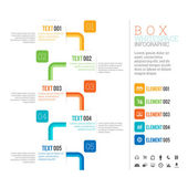 Box White Space Infographic — Stock Vector
