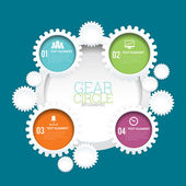 Gear Circle Infographic — Stock Vector