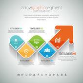 Arrow Graphic Segment Infographic — Stock Vector