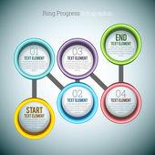 Ring-fortschritt-infographik — Stockvektor
