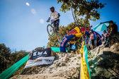 Downhill Rider — Stock Photo