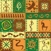 African pattern — Stock Vector