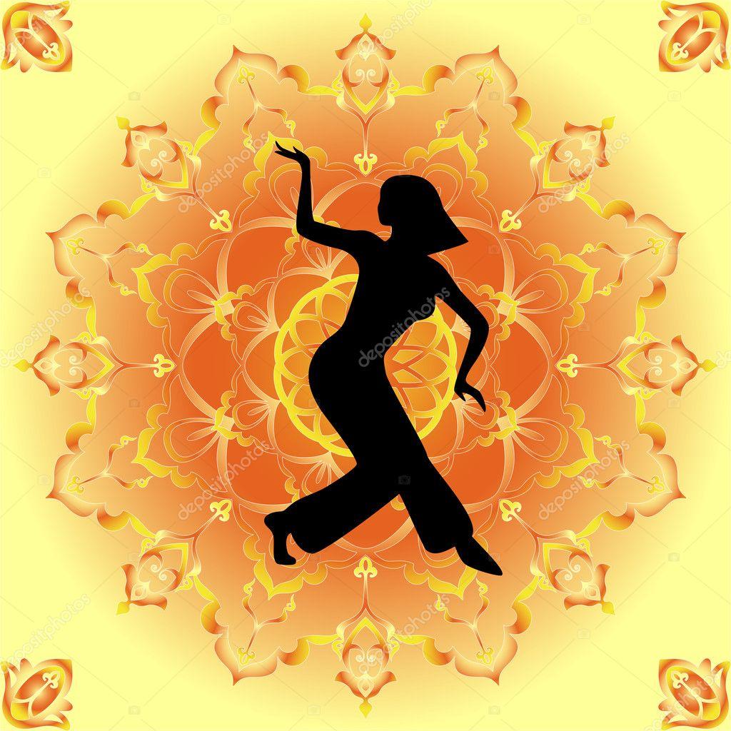 Belly Dancers Dancer of Belly Dance — Vector