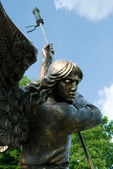 Sculpture of Archangel Michael, Minsk — Stock Photo