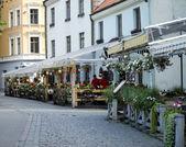 Cafe in Riga — Stock Photo