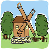 Fabulous windmill — Stockvector