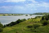 Oka river, Ryazan region — Stock Photo