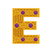 Golden letter E — Stock Photo