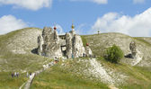 Belltower of monastery in Kostomarovo — Stock Photo
