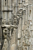 Stone lace Milan Cathedral — Stock Photo