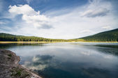Amazingly calm lake — Stock Photo