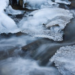 Stream rocks in winter - Stock Photo