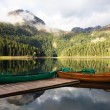 Canoe ready to set off on Lake — Stock Photo
