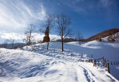 Winter landscape with snow — Foto Stock