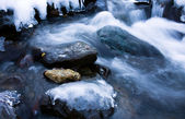 Ice water creek — Stock Photo