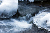Rocks and Ice to Winter — Stock Photo