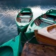 Boats in lake — Stock Photo