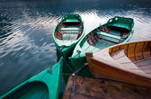 Boats in lake — Fotografia Stock
