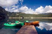 лодки на озере — Стоковое фото
