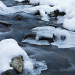 Stock Photo: Stream ice rock