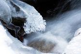 Winter en water — Stockfoto