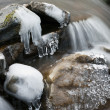 Mountain stream in winter — Photo