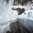 Mountain stream in winter — Stock Photo