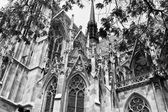 Catholic church in black and white tone — Stock Photo