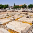 Stock Photo: Construction site - Execution of foundations of building