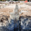 Details and particulars of Construction Site - Execution of the foundations of a building — Stock Photo