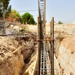 Stock Photo: Details and particulars of Construction Site - Execution of foundations of building