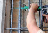 Tal på betongpelare att förstärka — Stockfoto