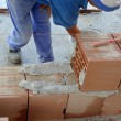Construction mason worker bricklayer — Stock Photo #15322923
