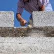 Construction mason worker bricklayer — Stock Photo #15323019