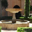 Garden Fountain in Alhambraof the Alhambra, Spain - Stock Photo