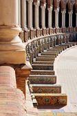 Rzut oka balkonu placu hiszpania - sevilla, hiszpania — Zdjęcie stockowe