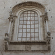 The rear large window of the Cathedral Bitonto cathedral in Romanesque style - Bitonto (Bari, Puglia, Italy) — Stock Photo