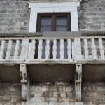 Historic balcony renaissance - Bisceglie - Apulia- Italy — Stock Photo
