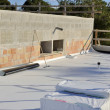 Construction site - waterproofing and insulation pvc terrace — Stock Photo #34245795