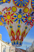 Hot air balloon of paper thrown — Foto Stock