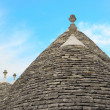 Characteristic trulli near countryside Alberobello — Stock Photo