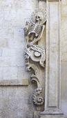 Decoration of the prospectus church Santa Maria del Suffrage Purgatory - Bitonto (Italy). — Stock Photo