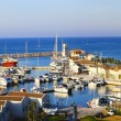Marina of Peschici important tourist port del Gargano, Apulia - Italy — Stock Photo