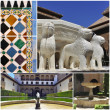 Stock Photo: AlhambrCollage, Granad(Andalusia), Spain.