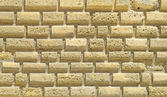 Walls of a castle with blocks of stone ashlar — Stock Photo