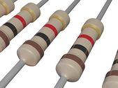 Isolated Resistors — Stock Photo