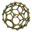 Stock Photo: Isolated C60 Fullerene