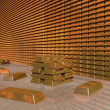Stock Photo: Gold Bar Vault